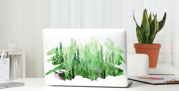 Adesivo verde con acquerello