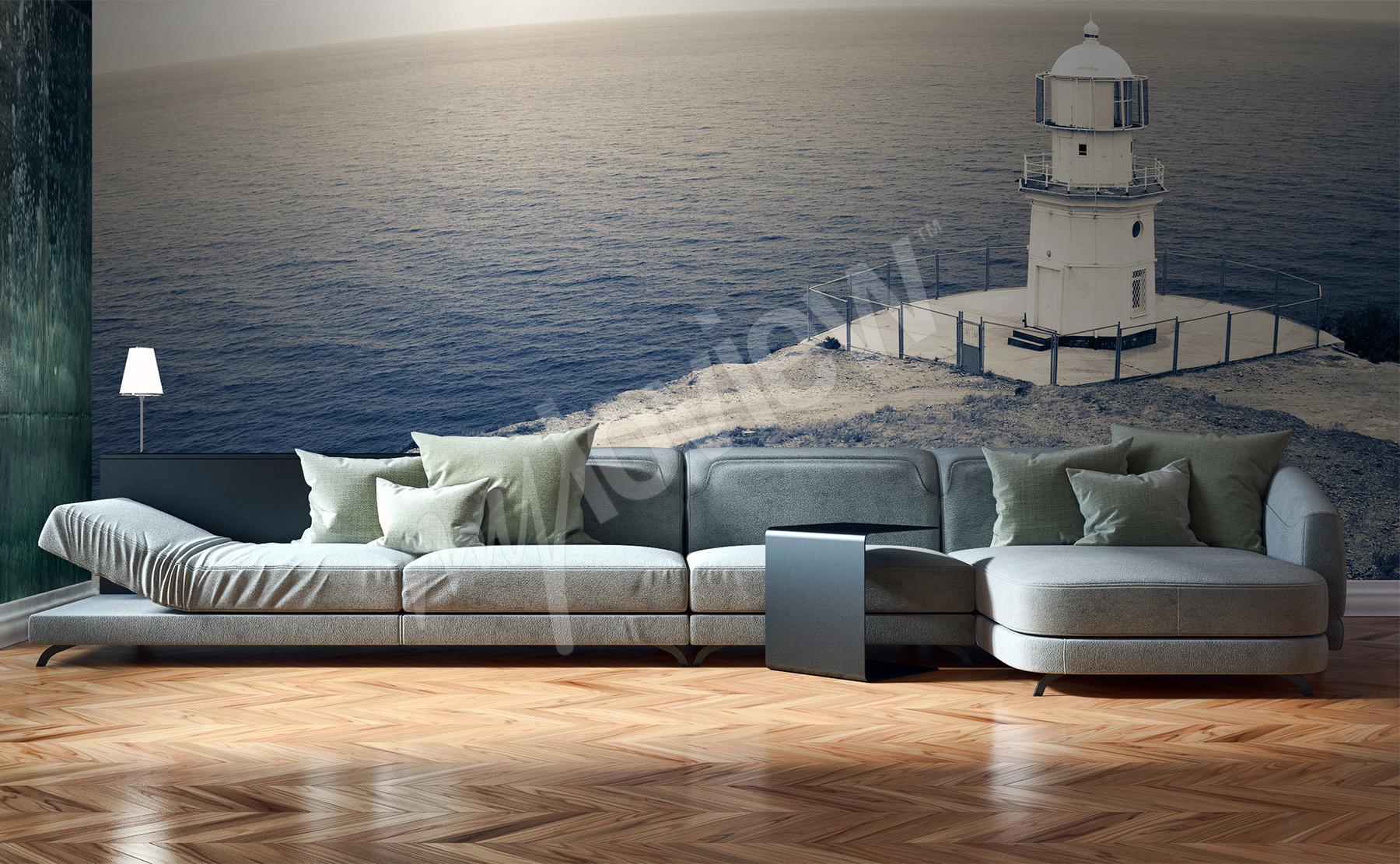 carta da parati mare su misura della parete