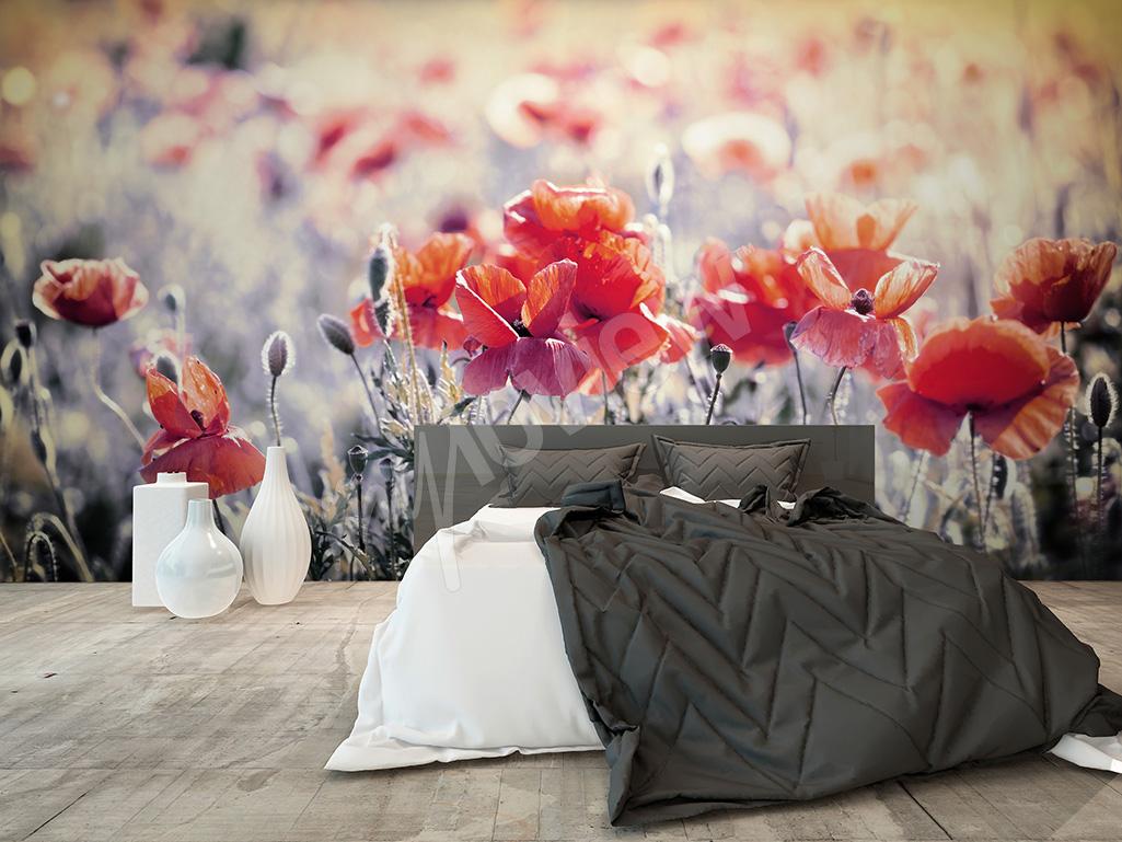 Carta Da Parati Fiori Minimal : Articoli una camera da letto può avere molte facce myloview
