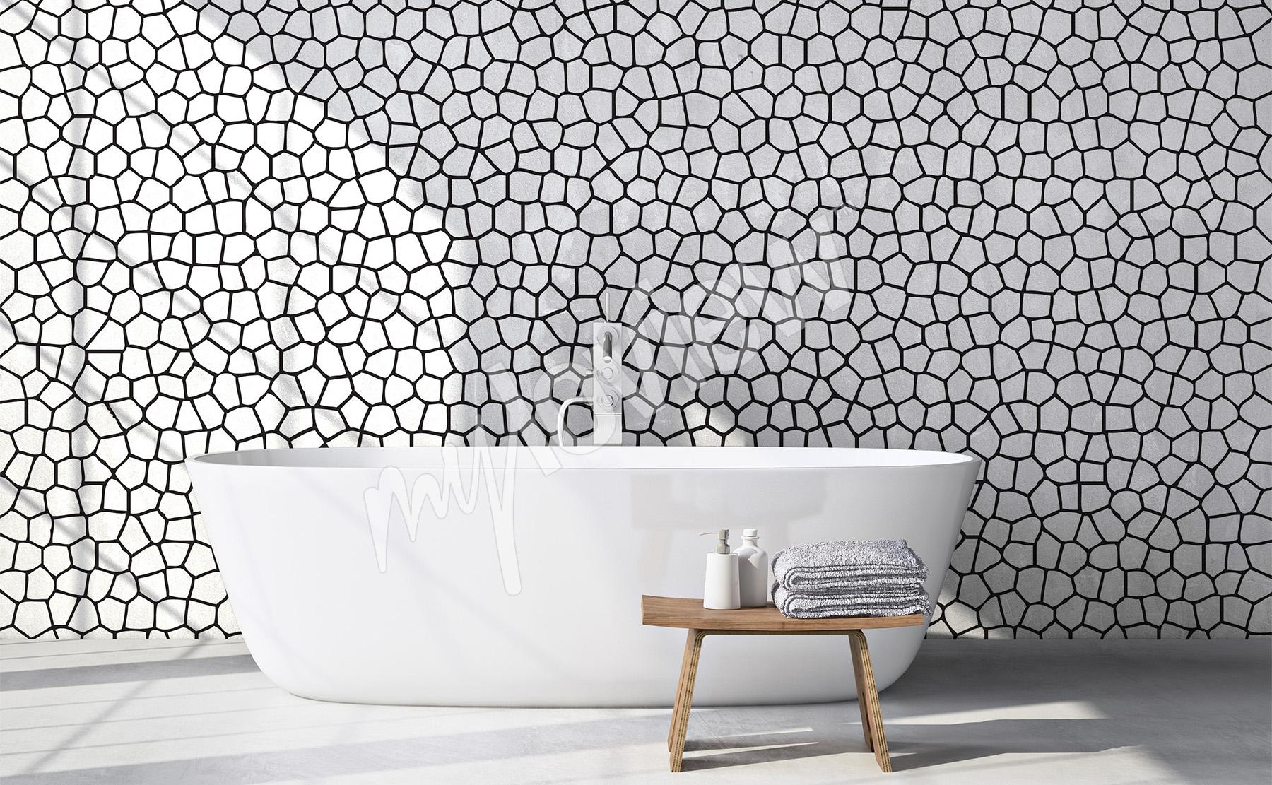 carta da parati bianco nero su misura della parete. Black Bedroom Furniture Sets. Home Design Ideas