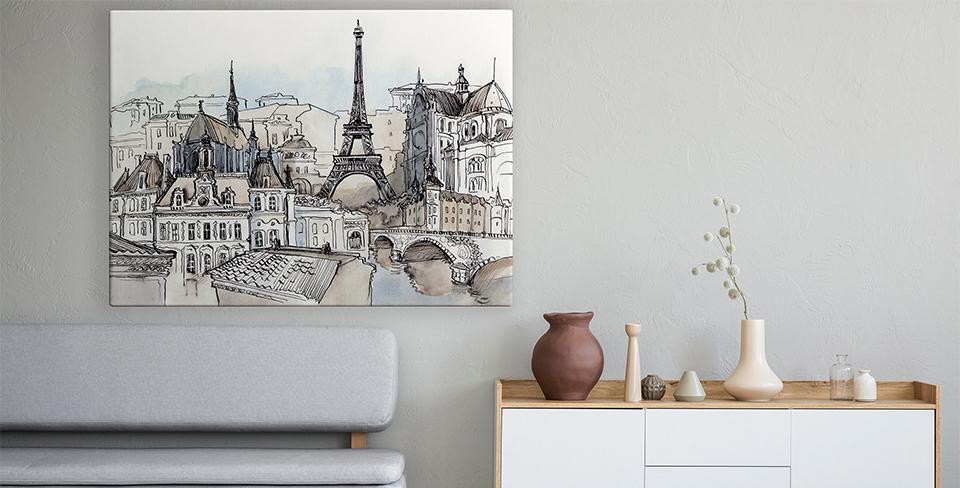 Poster panorama di Parigi