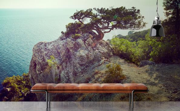 Carta da parati albero e mare