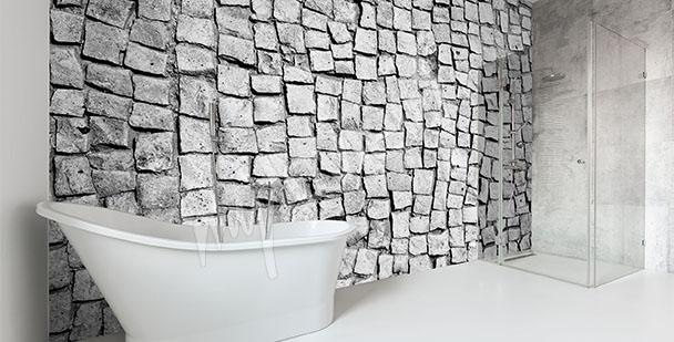 Carta da parati bagno su misura della parete for Carta parati vinilica bagno
