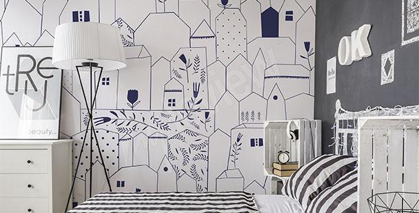 Carta da parati Camera da letto •su misura della parete | myloview.it