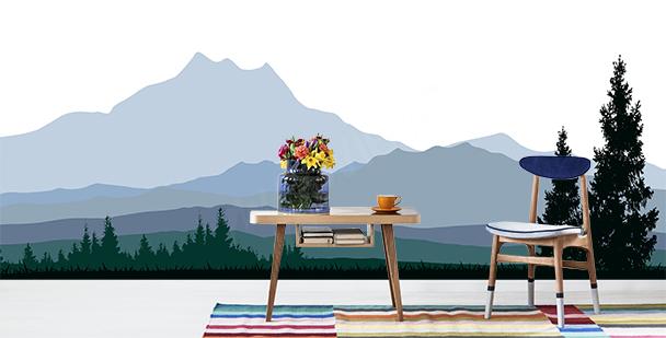 Carta da parati colline minimaliste