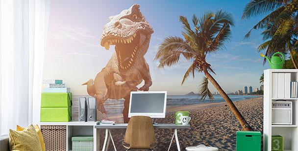 Carta da parati dinosauro 3D