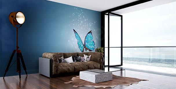 Carta da parati farfalla per salotto