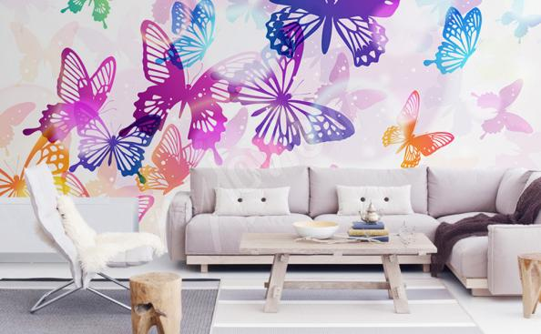 Carta da parati farfalle colorate