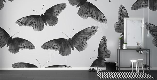 Carta da parati farfalle nere