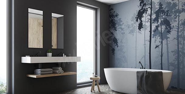 Carta da parati bagno su misura della parete - Carta da parati lavabile per bagno ...