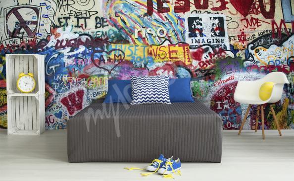 Carta da parati graffiti stanza di un ragazzino