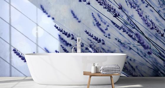 Lavanda, un'oasi di pace: la carta da parati lavanda