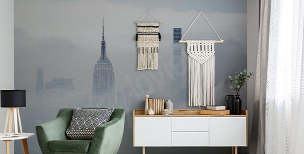 Carta da parati New York nella nebbia