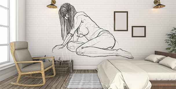 Carta da parati nudo per camera