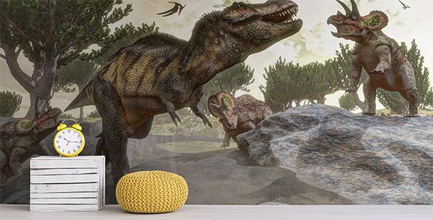 Carta da parati per bambino dinosauri