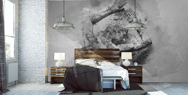 Carta da parati camera da letto su misura della parete for Carta da parati per camera da letto