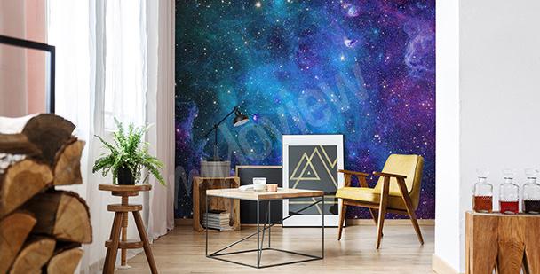 Carta da parati per salotto galassia
