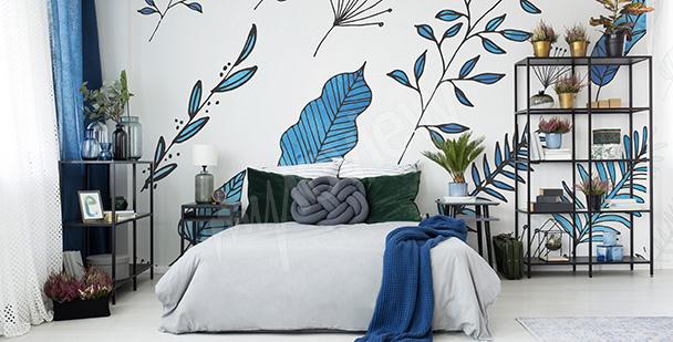 Carta da parati piante per camera da letto