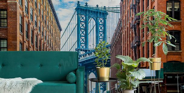 Carta da parati ponte di Manhattan
