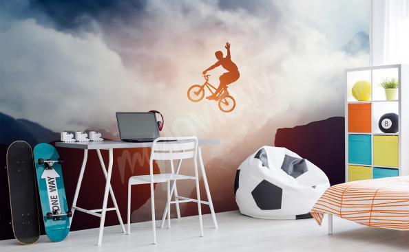 Carta da parati sportiva ciclistico per adolescente