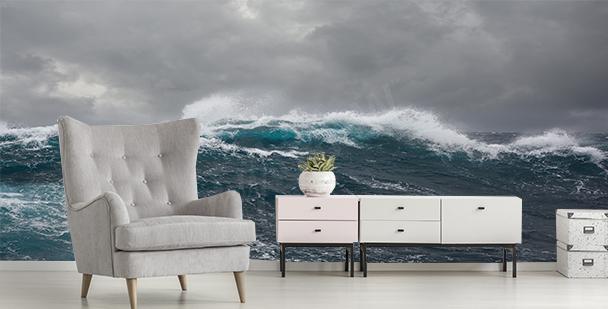 Carta da parati tempesta in mare