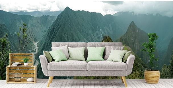 Carta da parati vista del Machu Picchu