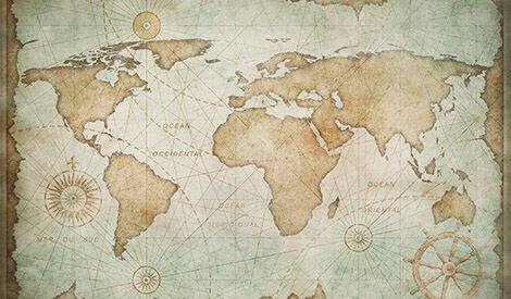 Carta geografica d'epoca