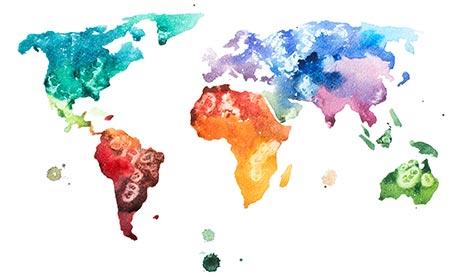 Carta geografica mondiale