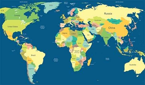 Carta geografica politica