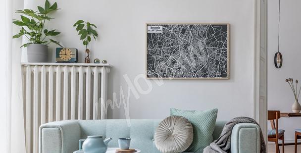 Poster con pianta della città