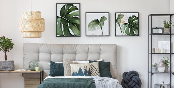 Poster con piante per camera da letto