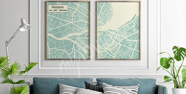 Poster dittico minimalista