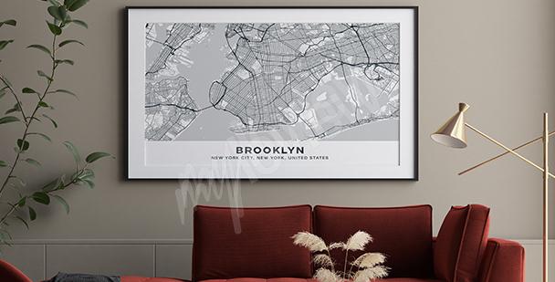 Poster mappa di Brooklyn