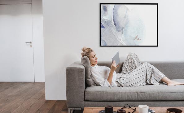 Poster minimalista ad acquerello