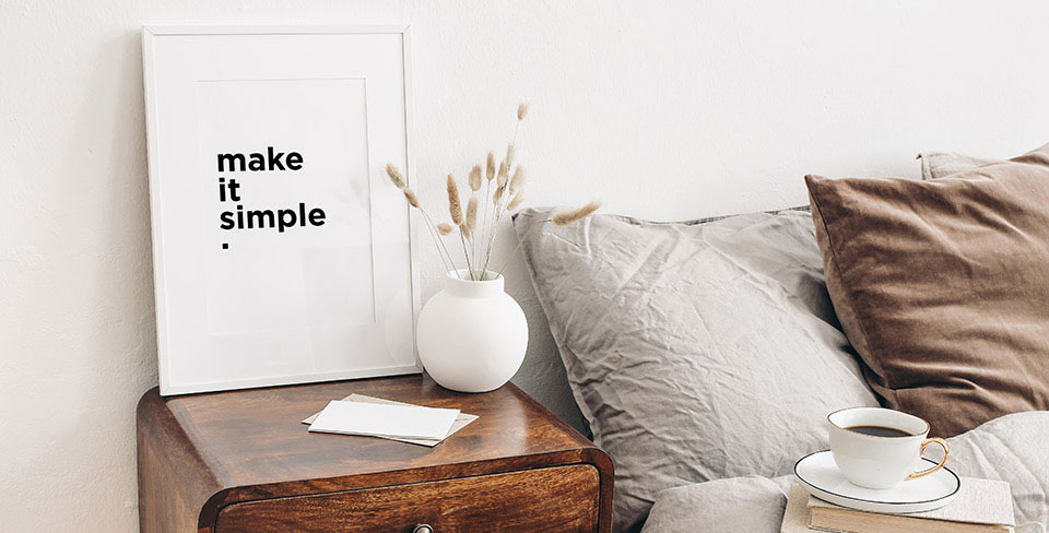 Poster minimalista scritta