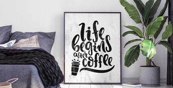 Poster motivazionale per camera da letto