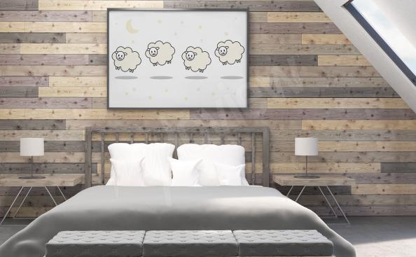 Poster per camera da letto con agnelli