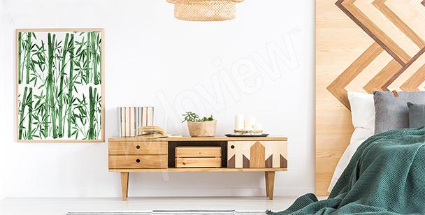 Poster per camera da letto con bambù