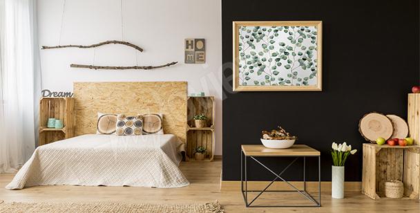 Poster per camera da letto con foglie