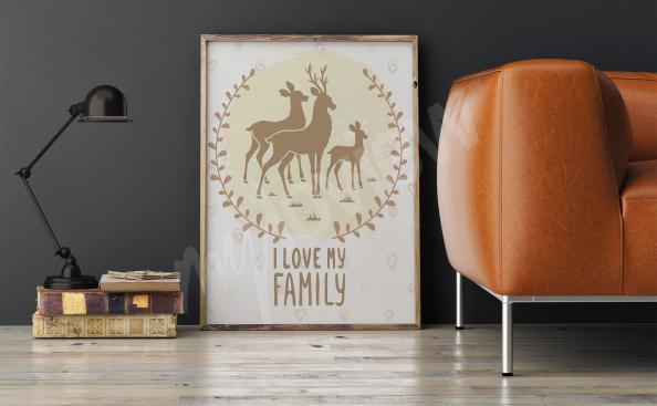 Poster per salotto cervi