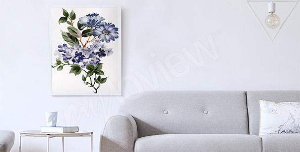 Poster per salotto con piante