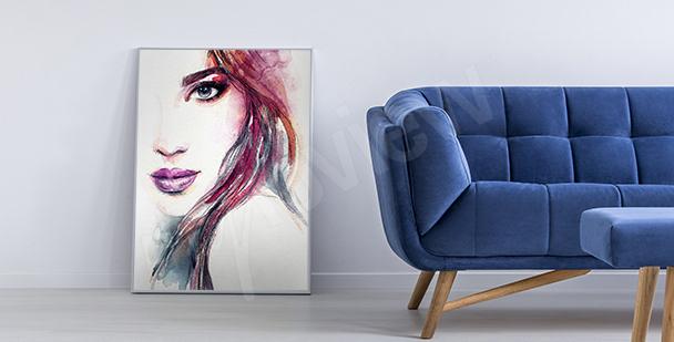 Poster per salotto ritratto di donna