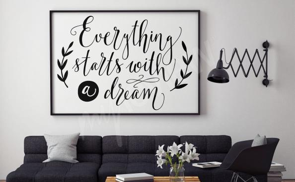 Poster scritte in bianco e nero per salotto