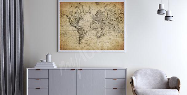 Poster stilizzato su mappa antica
