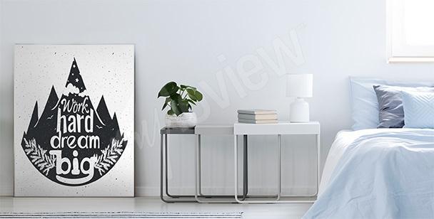 Poster tipografico con foresta