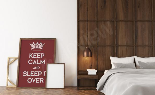 Poster tipografico per camera da letto