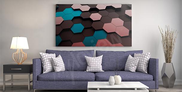 Quadro 3D mosaico colorato