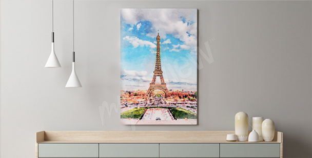 Quadro a pastello Parigi
