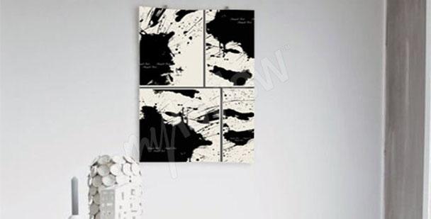 Quadro acquerelli in bianco e nero
