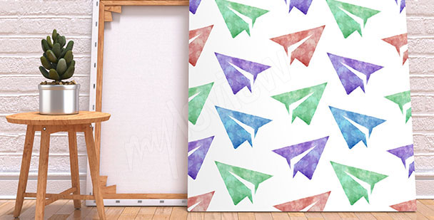 Quadro acquerello origami